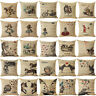 18'' Alice in Wonderland Cotton Linen Cushion Cover Pillow Case Home Decor