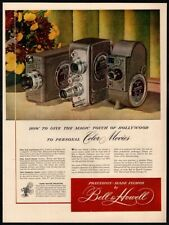 1949 BELL & HOWELL Movie Camera - Auto Load - Filmo - Color Print VINTAGE AD
