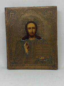 19th Centuary, Finely Painted Copper Russian Icon