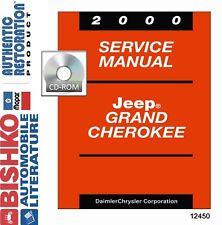 2000 Jeep Grand Cherokee Factory Shop Service Repair Manual CD