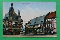 Sachsen Anhalt AK Wernigerode 1930er Rathaus Gotisches Haus Gebäude Architektur
