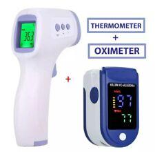 Thermomètre frontal infrarouge numérique + Oxymètre de Pouls