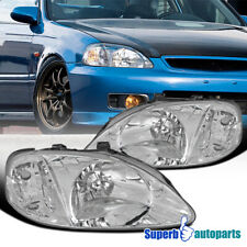 For 1999-2000 Honda Civic Headlights Head Lamps Head Lamps Replacement