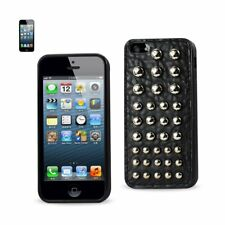 Reiko Design Leather Protector Cover iPhone 5S with Dots Black