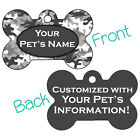 Gray Camo Double Sided Pet Id Dog Tag Personalized for Your Pet