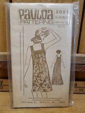 Vintage Pauloa Sewing Patterns # 2001 Loose Fitting Pullover Muumuu Xs-Lg