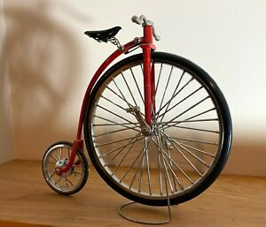 1:10 Scale Vintage Miniature Metal Diecast Big Wheel Bicycle