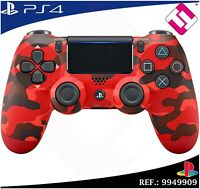 MANDO PS4 DUALSHOCK COLOR ROJO CAMUFLAJE ORIGINAL PLAYSTATION 4 SONY RED MILITAR