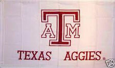 TEXAS A&M AGGIES BANNER NEW 3x5 ft FLAG white USA seller
