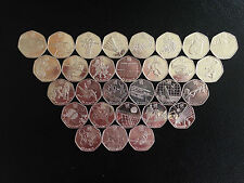Olympic 50p. All Types Available. Football, Triathlon, Judo, Wrestling.