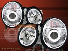 00 01 02 MERCEDES BENZ W210 E CLASS PROJECTOR CHROME HEADLIGHTS LAMPS PAIR