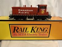 ✅CUSTOM PAINT MTH RAILKING CANADIAN PACIFIC SW-1500 SWITCHER DIESEL ENGINE! PS2