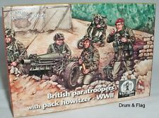 WATERLOO 1815 AP036 British Paratroopers with Pack Howitzer. WW2. 1:72 Scale