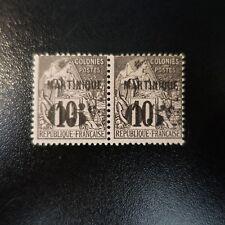 """MARTINIQUE N°10a VARIÉTÉ """"5"""" PENCHÉ TENANT A NORMAL NEUF * COTE 510€"""