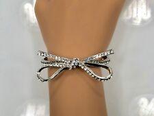 Crystal Bow Ribbon Stretch Bracelet - 4 Colors