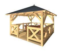 Holzpavillon verzapft Gartenlaube Pavillon Gartenpavillon Gartenhaus Grillhütte