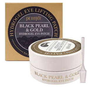 Petitfee Black Pearl & Gold Hydrogel Eye Patch 60pc - Soothe Puffy Eyes [UK]