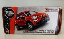 Boxed Matchbox 2016 Fiat 500X Orange Car MBX Off Road 65th Anniversary