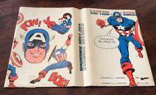 Vintage Captain America Book Cover 1976 Marvel Comics