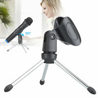 Desktop Tripod Microphone Stand Holder Foldable Adjustable for Meetings Lectures