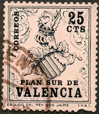 Stamp Spain 1963 25c Valencia Tax Stamps Used