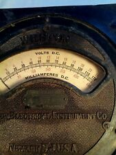 weston electrical instrument volt/amp meter 1880's