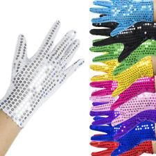 Sequin Gloves Fancy Dress Accessory Stage Jazz Dance Clown Showgirl NEW