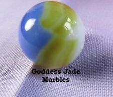 """Vintage Unusual Color Marble King Patch and Ribbon 19/32"""" Goddess Jade Marbles"""