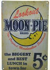 "Moon Pie Marshmallow Sandwich Kitchen Cafe Diner Retro Metal Tin Sign 8x12"" NEW"
