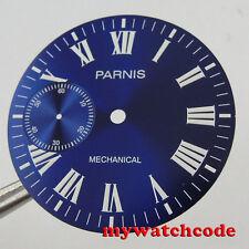 38.9mm blue dial fit 6497 seagull movement Watch Case Luminous marks D104