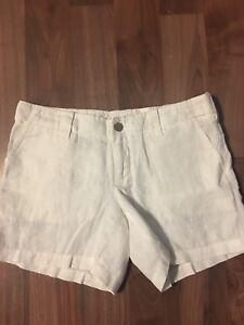 NWOT Victoria's Secret London Jeans Linen Shorts Size 4 White