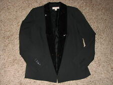 New No Tags Michael Kors Lined Black Sequin Lapel Open Jacket Sz 10