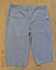 NEW KORET WOMANS CAPRI PANTS FRENCH BLUE PLUS SIZE 20W NEW w/TAGS $48.00 RETAIL