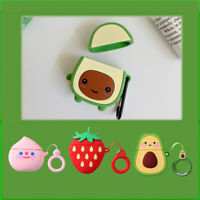 For Apple AirPods Charging Case Avocado 3D Cute Earphone Protect Cover Silicone