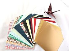 JAPANESE Square Folding ORIGAMI CHIYOGAMI CRAFT PAPER - 80 Sheets - 20 Patterns