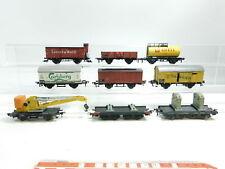 bd737-2 #9x FLEISCHMANN H0 / DC Vagón de mercancía DSB + DB + SBB-CFF etc. ,