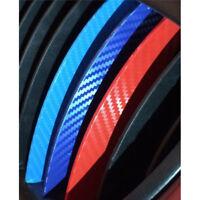 Carbon Fiber 3 Color Front Kidney Grille Vinyl Stripe Sticker Decoration For BMW