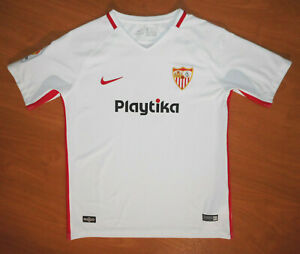 NIke 2018-19 Team Sevilla FC Youth Kids Home Soccer Jersey Size XL (13-15 y.o.)