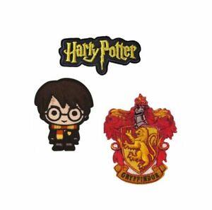 Harry Potter Gryffindor Patches Aufnäher Bügelmotive 3 Motive pro Set