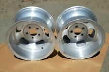 Ansen Sprint 15x10 5 On 5 Vintage Alloy Slot Wheels Etched Unpolished Withcaps