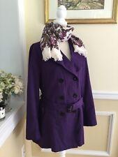 HOBBS London Ladies Purple lightweight jacket mac coat Size US 12