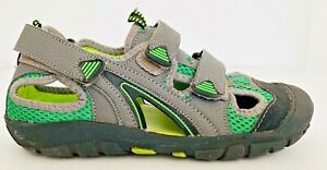 Grosby  Womens Shoes Sz 6 Walking Sandals Grey Green Adjustable Sports Outdoors