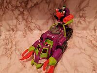 Genuine Imaginext Joker Tank Vehicle Set & Figure DC Batman Playset Harley Quinn