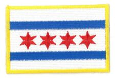 Chicago Flag iron on/sew on Embroidered Patch Applique DIY (US Seller)
