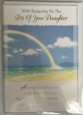 With Sympathy On The Sad Loss Of Your Daughter - Sympathy/Condolence Card