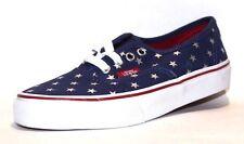 Vans Kids Authentic Skate Shoe, Color (Foil Stars) Red/Blue