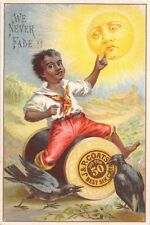 F47/ Victorian Trade Card Black Americana Kid P. Coats Cotton Spool 21