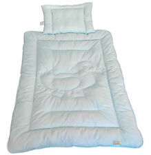 Kinderdecke Bettdecke Baby Set Ente Blau Steppbett + Kissen 100x135cm 40x60cm