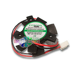 Video Card Replacement Fan 45mm x 10mm For Round Frame VC-EC4510M12S-B Evercool