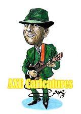 """reducido"" Leonard Cohen Caricatura Estampado-A4-Edición Limitada (1 de 100)"